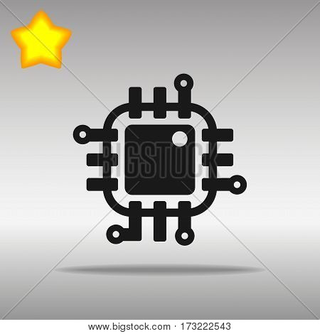 black Chip Icon button logo symbol concept high quality on the gray background