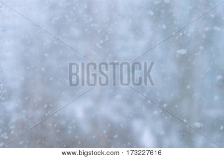 Large snowflakes fall Texture, background of snowflakes