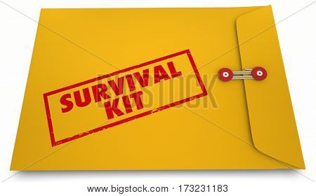 Survival Kit Doomsday Information Envelope 3d Illustration