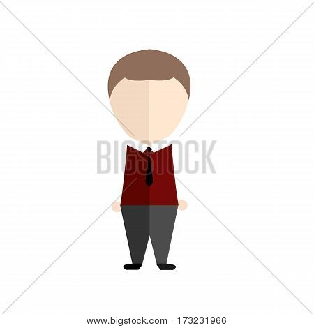 infographic cartoon cute and handsome in skinhead man vector illustration