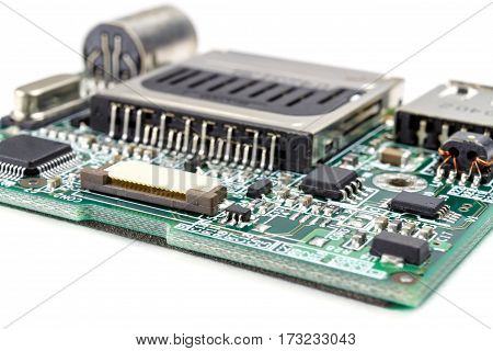 Electronic control module for actuators on a white background