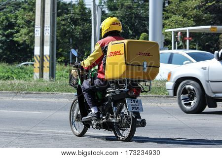 Dhl Express And Logistics Mini Container Motorcycle