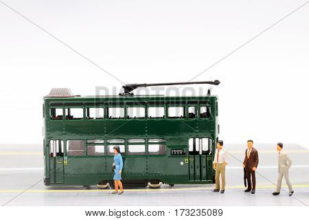 Tiny Of Double Decker Tram
