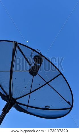 A satellite dish use for receive TV signals.