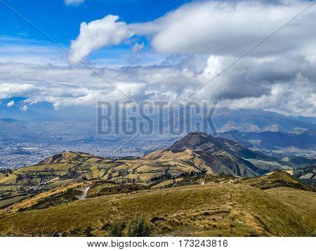 Andes Mountains Landscape Scene Quito Ecuador