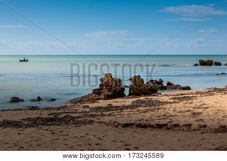Beach In Belice, South Coast Of Sicily, Italy