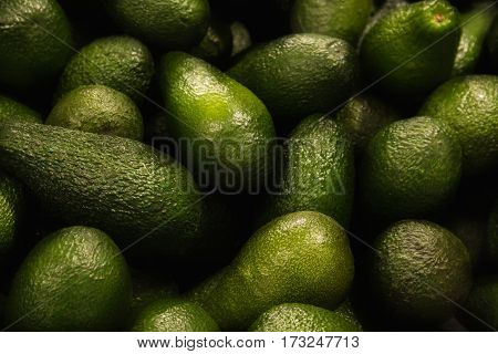 Avocados close up. It can be used as background.