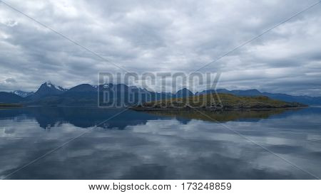 Beagle Channel  is a strait in Tierra del Fuego Archipelago on the extreme southern tip of South America partly in Chile and partly in Argentina.