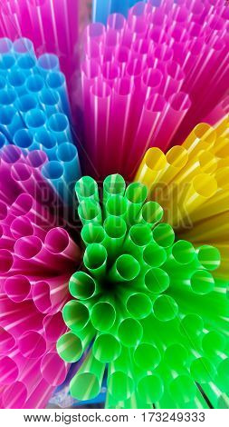 Multi Color flexible straws and background color