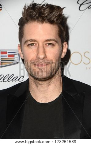 LOS ANGELES - FEB 23:  Matthew Morrison at the Cadillac Hosts their Annual Oscar Week Soiree at the Chateau Marmont on February 23, 2017 in West Hollywood, CA