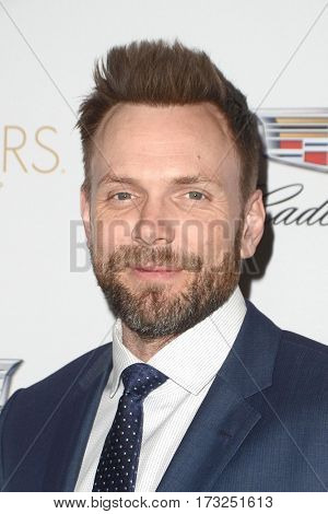 LOS ANGELES - FEB 23:  Joel McHale at the Cadillac Hosts their Annual Oscar Week Soiree at the Chateau Marmont on February 23, 2017 in West Hollywood, CA
