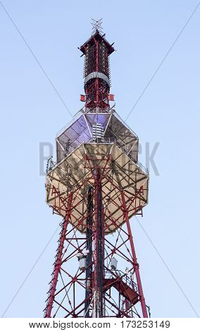 The upper extremity of the radio antenna television translation