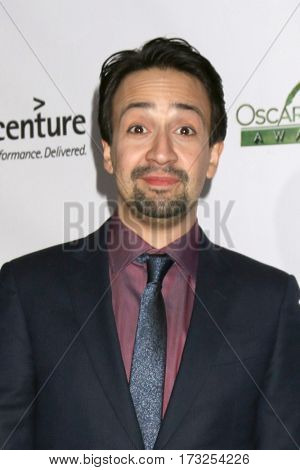 LOS ANGELES - FEB 23:  Lin-Manuel Miranda at the 12th Annual Oscar Wilde Awards at Bad Robot Studios on February 23, 2017 in Santa Monica, CA