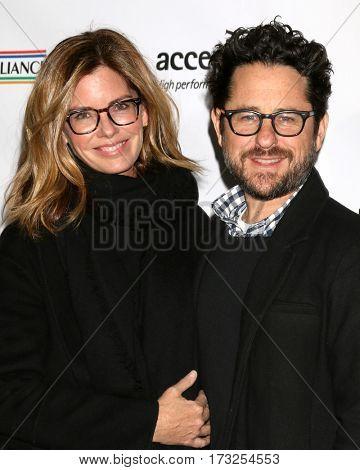 LOS ANGELES - FEB 23:  Katie McGrath, J.J. Abrams at the 12th Annual Oscar Wilde Awards at Bad Robot Studios on February 23, 2017 in Santa Monica, CA