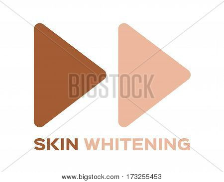 speed skin whitening icon and vector on white background