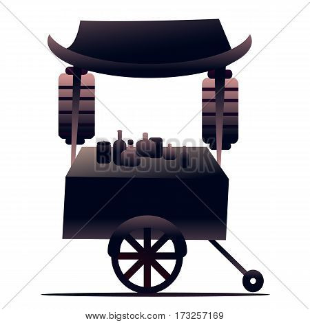Japan food truck for poster concept  or china