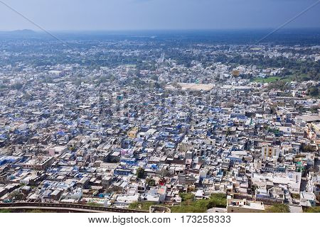 View On The Chittorgarh City, India. Rajasthan.