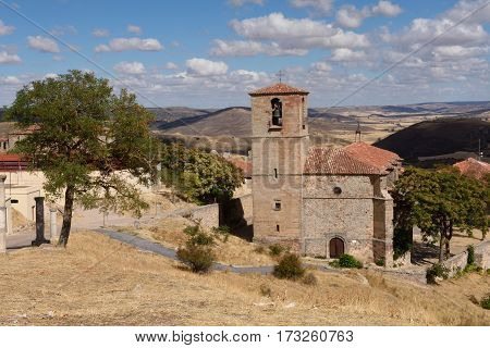 Santa Maria del Rey church Atienza Guadalajara province Castilla La Mancha Spain