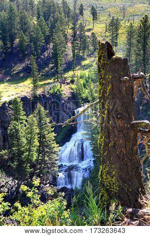 Undine Falls In Yellowstone