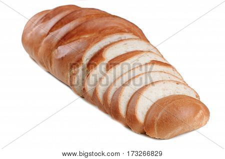 Fresh loaf with sliced. Fresh loaf bread with sliced isolated