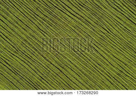 Light Green Crinkled Fabric Background Texture