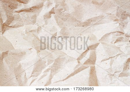 Texture of Rumpled cardboard background close-up. With place your text, background use