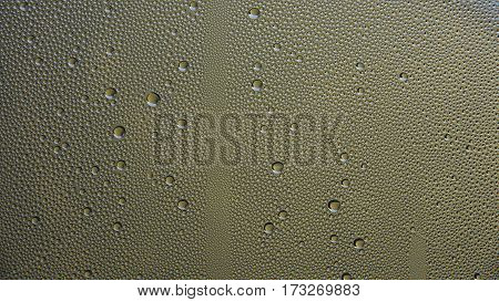 Water droplets on glass. Condensation on the glass. Macro