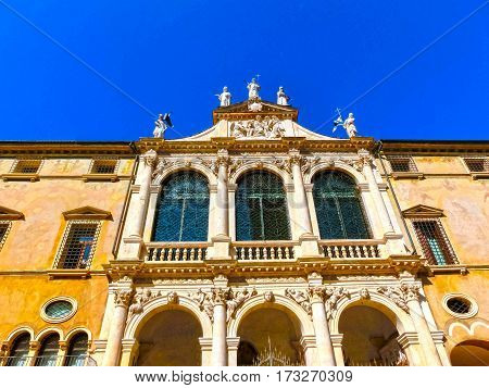 Buildings on Piazza Bra in Verona at Italy