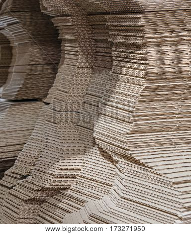 Paper and pulp mill factory. Brown paper production.