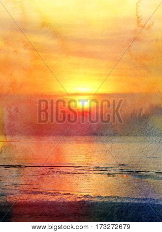 Photo wonderful beautiful sunset on the sea island