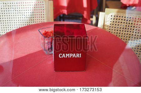 Campari Napkin In Milan