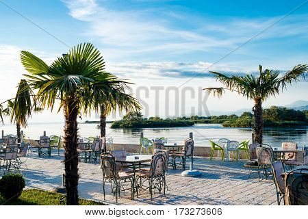 Shkoder Albania Lake View from incredible restaurant