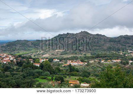The panoramic view of mountain Monsanto Portugal