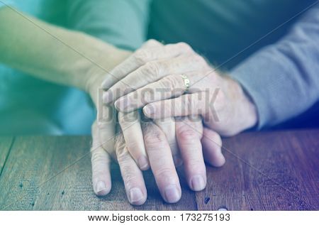 Holding Hands Affection Mature Love