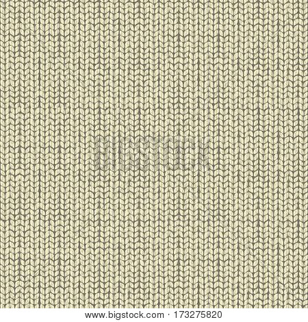 Wool beige knitted background, wrapping fairisle pattern, illustration