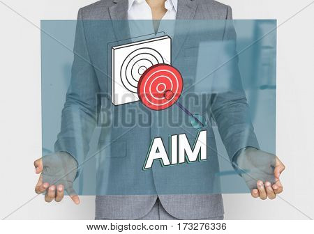 Goal focus aim success graphic