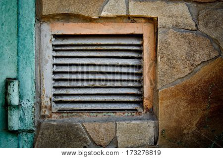 Vintage vent cover close up photo. abstraction