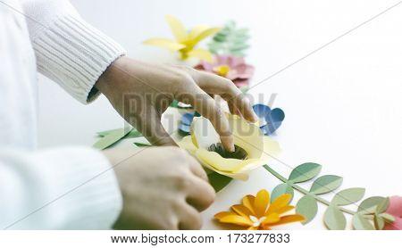Flower Papercraft Art Activity Handmade