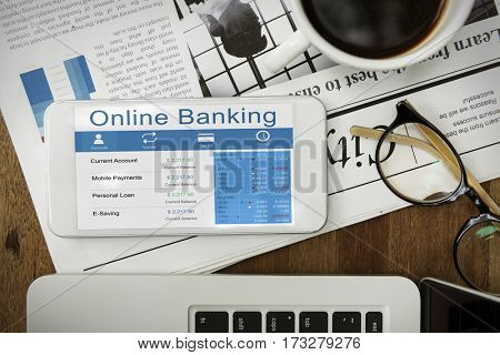 Online Banking Money Finance Icons Graphics