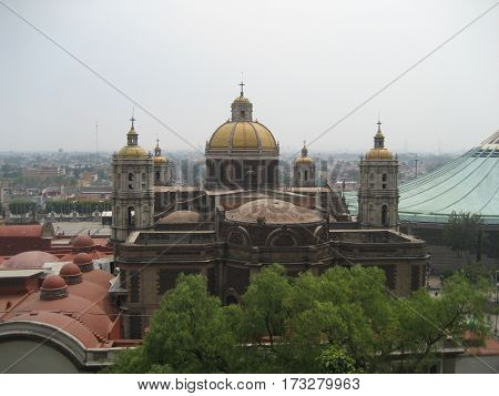 First cathedral in Mexico built by the Spaniards in the 1500's