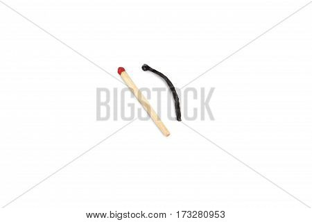 the matches are isolated on white background