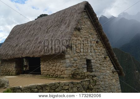 Overhauled house in the Machupichu ruins in Peru. Of course nobody lives there but that is the way houses looked like