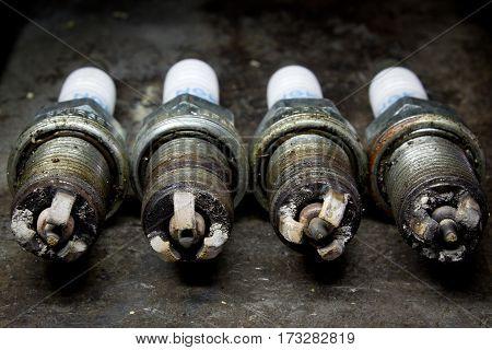 Used Spark Plugs