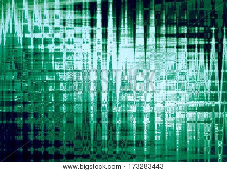 Abstract background in bright green colors, imitation polar lights. Horizontal.