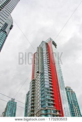 Bright Colors Of A Skyscraper In Vancouver