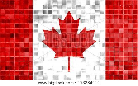 Canada Flag In The Old Retro Background Effect