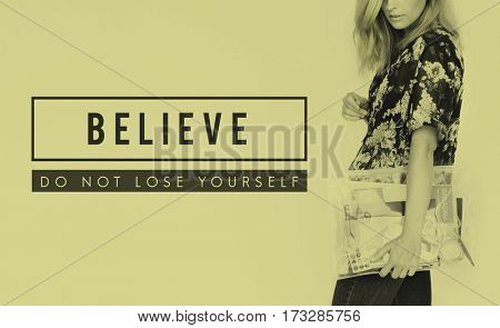 Believe Success Motivation Support Slogan
