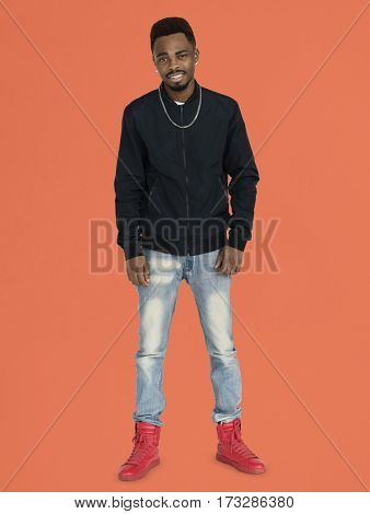 African Man Smiling Happiness Casual Portrait