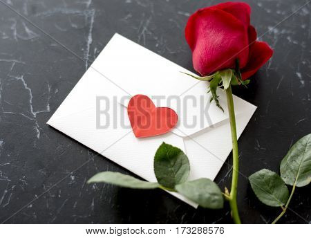 Envelope Rose Love Sign Heart