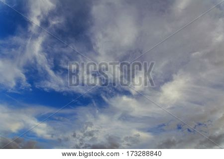 blue sky background with white clouds Aerial sky and clouds background
